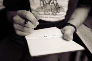 tomar notas de la tarea que interrumpes